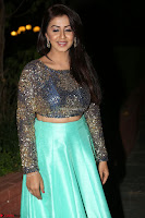 Nikki Galrani in Green Skirt  Top at Marakathamani music launch ~  Exclusive (100).JPG