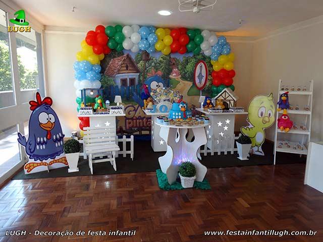 Decoração de aniversário de 1 ano - Festa infantil tema da Galinha Pintadinha