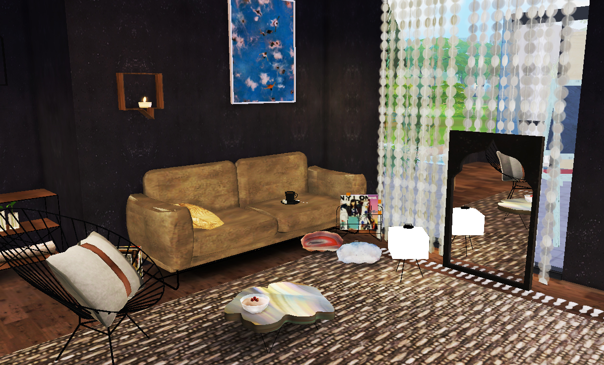 My sims 4 blog living room and decor by steffor for Room decor sims 4