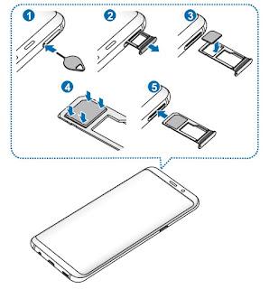 Come inserire SIM Samsung S8