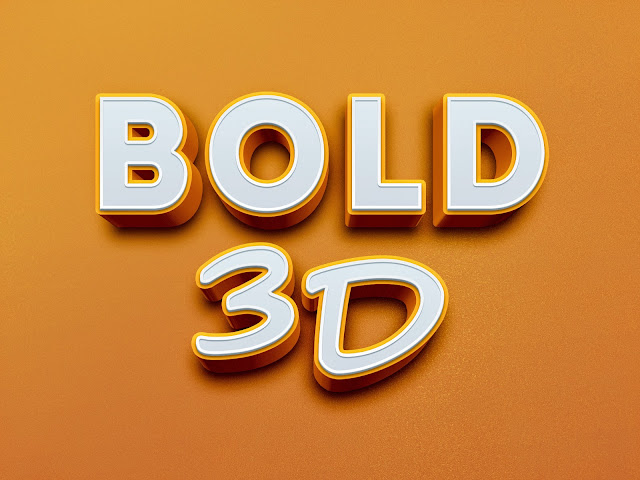 3D Text Effect PSD