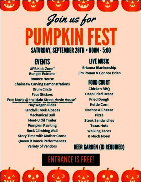 9-28 Pumpkin Fest, Bradford, PA