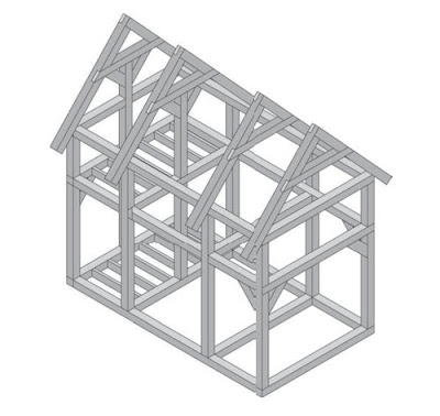 Каркас стоечно-балочной конструкции - Дома каркасного типа в Волгограде