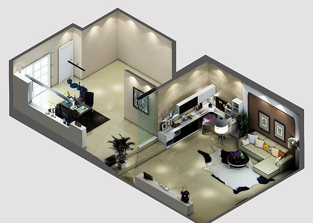 Minimalist-elegant-home-renovation-3D-sky-view 35 Sky View 4D American House Plan Styles Interior