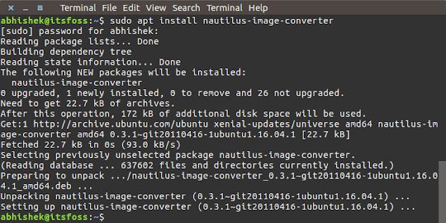 Tip cepat yang menunjukkan bagaimana mengubah ukuran gambar dengan sajian klik kanan di Lin Mengubah Ukuran Gambar Dengan Klik Kanan Di Ubuntu Dan Distribusi Linux Lainnya [Quick Tip]
