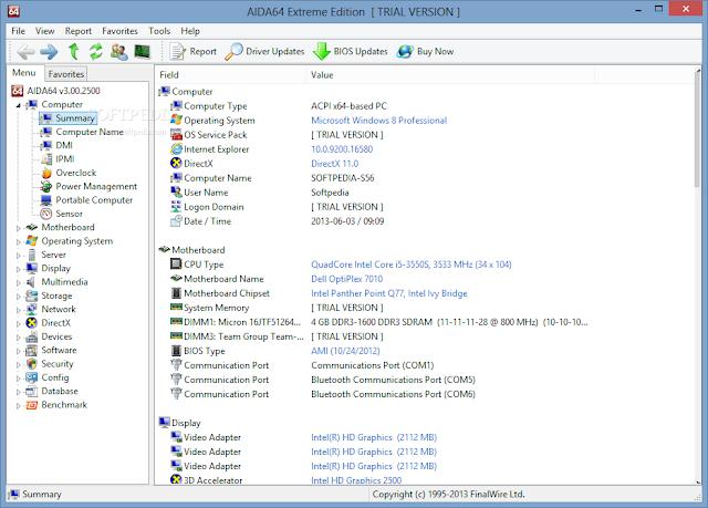 تحميل برنامج كشف مواصفات جهاز الكمبيوتر AIDA64 Extreme
