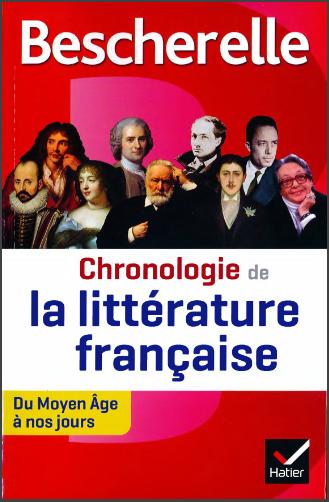 Livre : Bescherelle Chronologie de la littérature française - du Moyen Âge à nos jours
