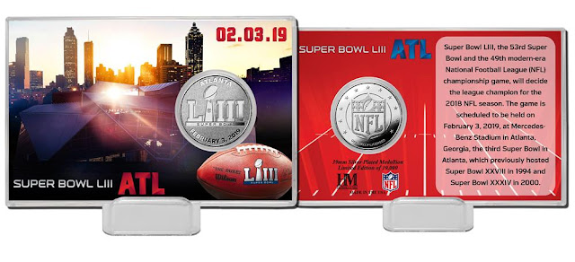 Super Bowl 53 Silver Coin Card