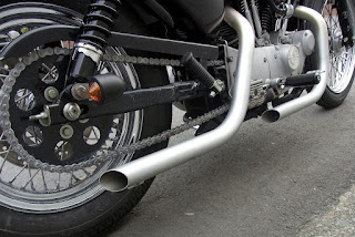 sportster 1200 s bobber drag pipes