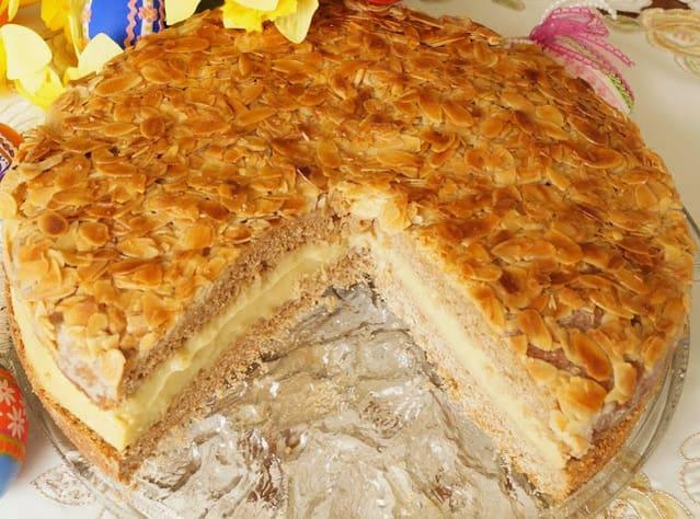 Tarta de Almendras y Crema Pastelera