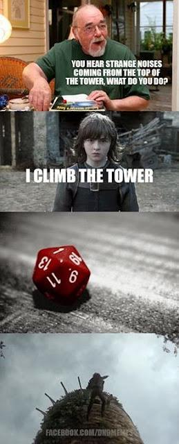 Meme de humor sobre Juego de tronos, Gygax y el AD&D