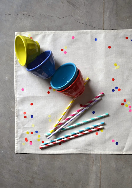 Individuales Confetti DIY
