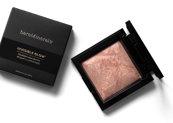 BareMinerals Invisible Glow Powder Highlighter Tan Review