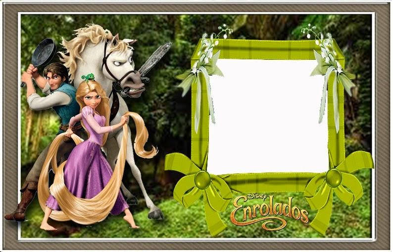 Para hacer invitaciones, tarjetas, marcos de fotos o etiquetas, de Enredados para imprimir gratis.