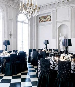 bodas , elegantes , glamour , eventos , decoración , blanco , negro