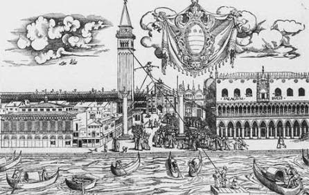 16th century illustration of Il Turco del Volo, Venice