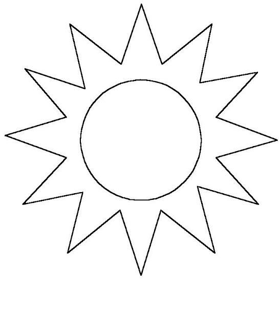 Los Dibujos Para Colorear : Dibujo De Sol Para Colorear E