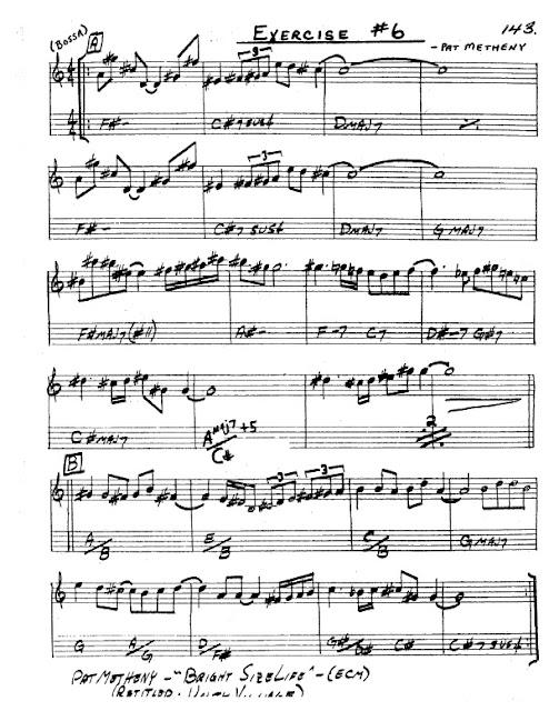 Partitura Saxofón Pat Metheny