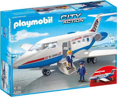 JUGUETES - PLAYMOBIL City Action  5395 Avión de pasajeros | 2016-2017  Edad: 4-10 años | Comprar en Amazon España