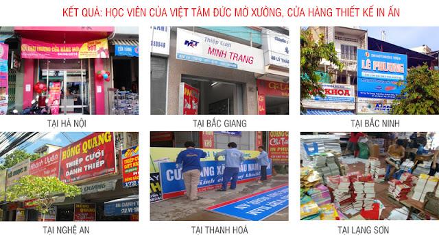 Học viên của Việt Tâm Đức mở xưởng in tại các tỉnh