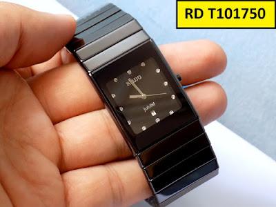 Đồng hồ mặt vuông Rado T101750 dây đá ceramic