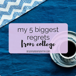 The 5 things I'd redo about college are 1) set goals for myself, 2) take attendance more seriously, 3) do a degree audit earlier, 4) hosted a little harder for a real job, and 5) be more involved with the law. law school blog. law student blogger   brazenandbrunette.com