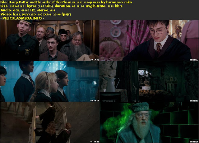 Descargar Harry Potter and the Order of the Phoenix Subtitulado por MEGA.