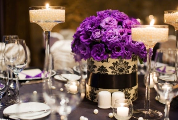 Wedding Centerpieces With Candles And Flowers