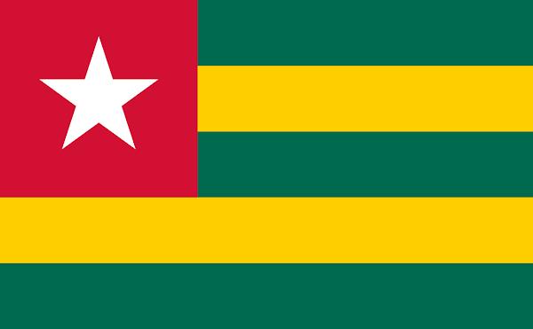 Logo Gambar Bendera Negara Togo PNG JPG ukuran 600 px