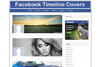Fb Cover Store Blogger Template