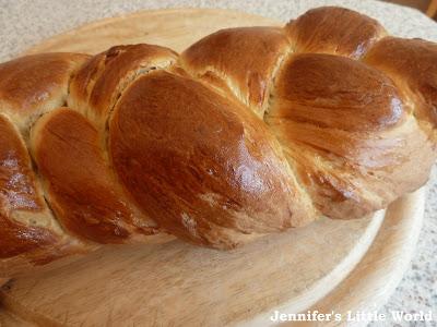 Zopf bread loaf