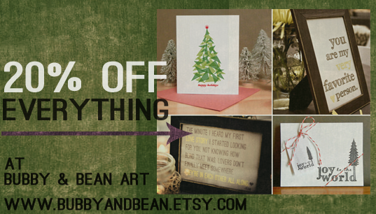 20% Off at Bubby and Bean Art