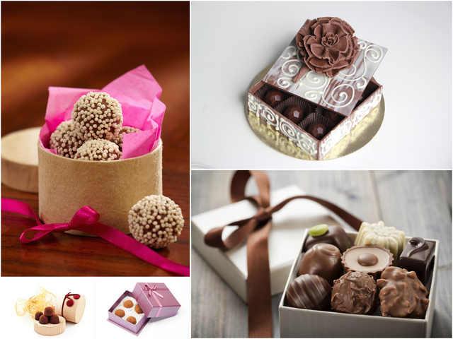 تحميل 5 صور بجودة عالية لحلوى الشوكولاته في علبة