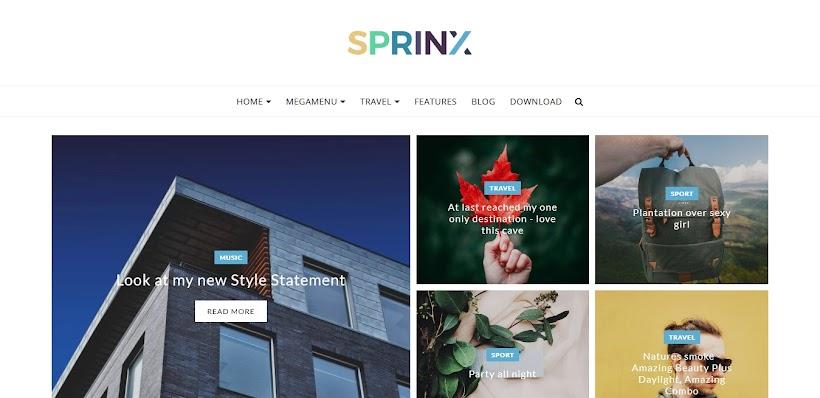 Sprinx Free Blogger Template