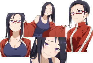 Collage of Satou Sakie, succubus from anime Demi-chan wa Kataritai