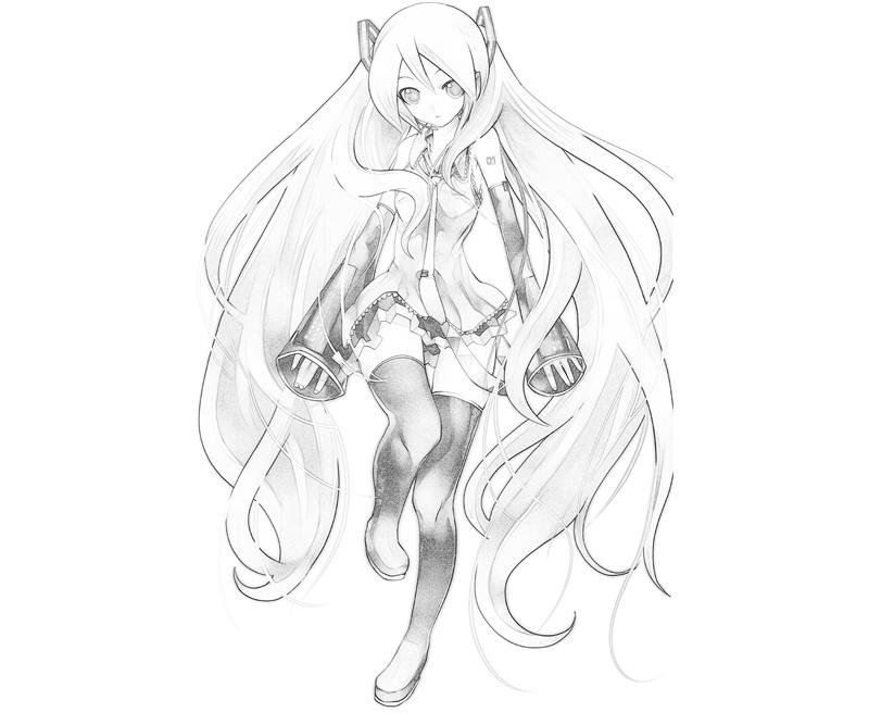 hatsune miku coloring pages - photo #17
