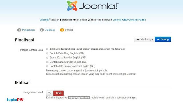 Tutorial Cara Install Joomla Terbaru Lengkap
