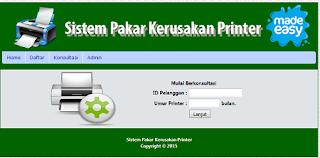 Sistem Pakar Kerusakan Printer