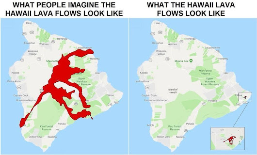 Hawaii Volcano Lava & VOG Maps
