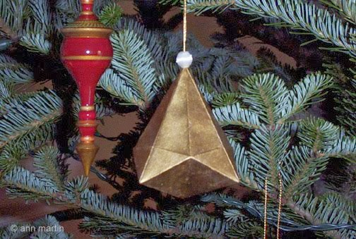 Folded Paper German Bell Ornament