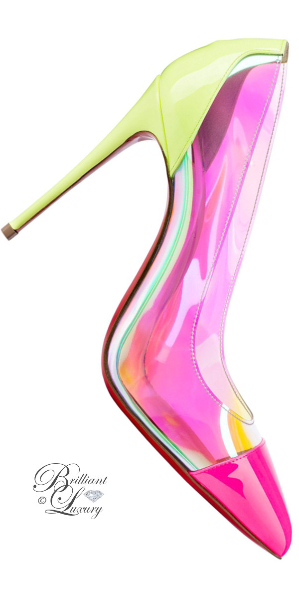 Brilliant Luxury ♦ Christian Louboutin Debut Patent PVC pumps in pink