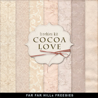 Freebies Vintage Style Paper Kit - Cocoa Love