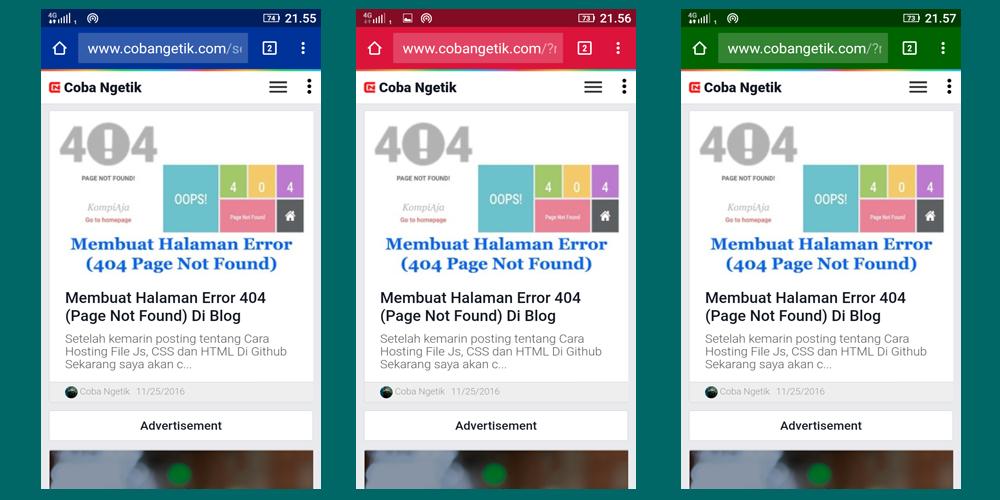 Merubah Warna Address Bar pada Browser Smartphone
