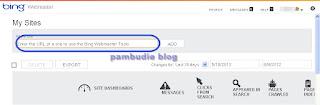 Submit dan verifikasi blog di BING