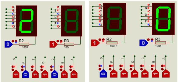 akses seven segment paralel