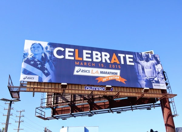 Celebrate 30th LA Marathon billboard