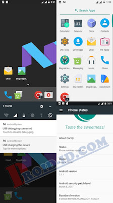Custom Rom Candy 7 Nougat Andromax A (A16C3H)