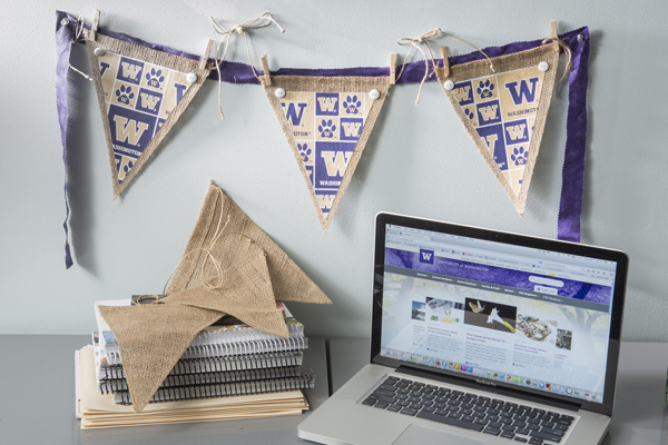 College Burlap and Fabric Pennants @craftsavvy #craftwarehouse #diy #pennants