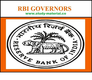 LIST OF RBI GOVERNORS IN INDA (1935 TO 2018)