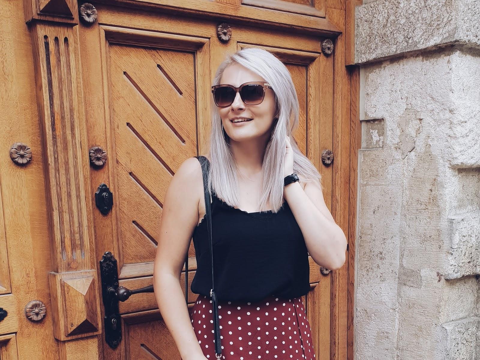 Polka dots midi skirt czyli casualowy zwyklak na lato